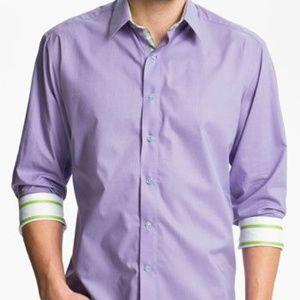 Robert Graham 'Bay Shore' Sport Shirt Purple 2XL